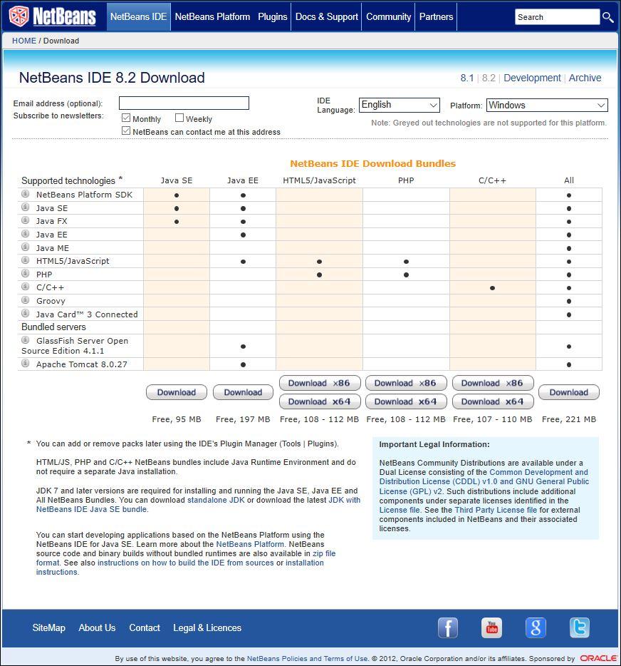 download netbeans 8.0 2 for windows 10 64 bit